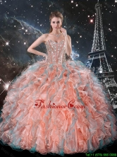 2016 Summer Discount Ruffles and Beaded Quinceanera Dresses in Multi Color QDDTA99002FOR
