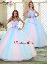 2016 Sweetheart Quinceanera Dresses with Hand Made Flowers  YCQD050FOR