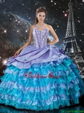 2016 Winter Perfect Multi Color Quinceanera Dresses with Ruffled Layers and Beading QDDTA94002FOR