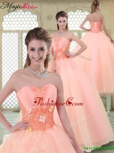 Beautiful Appliques and Beading Sweet 16 Dresses with Sweetheart YCQD037FOR