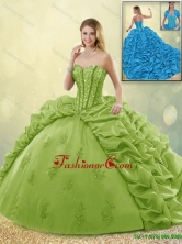 Beautiful Appliques and Pick Ups Sweet 16 Dresses with Brush Train SJQDDT191002-3FOR