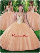 Beautiful Ball Gown Beading Sweet 16 Dresses for Fall SJQDDT279002FOR