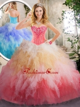 Beautiful Beading and Ruffles Quinceanera Dresses in Multi Color SJQDDT220002-2FOR