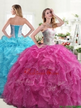Beautiful Really Puffy Quinceanera Dress with Beading and Ruffles YYPJ031FOR