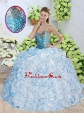 Beautiful Sweetheart Quinceanera Dresses with Sequins and Ruffles SJQDDT250002FOR