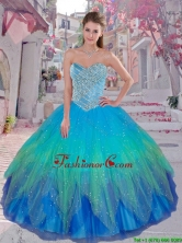 Cheap 2016 Spring Multi Color Sweetheart Sweet 16 Dresses with Beading QDDTC51002FOR