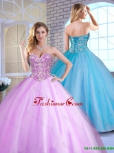 Cheap Ball Gown Beading Quinceanera Gowns with Sweetheart  SJQDDT163002A-1FOR