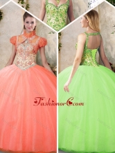 Cheap Straps Quinceanera Dresses with Beading and Appliques SJQDDT203002-1FOR