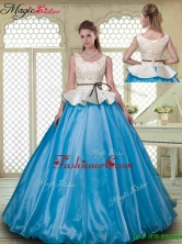 Classical Ball Gown Scoop Quinceanera Dresses with Beading YCQD044FOR