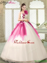 Classical Multi Color Quinceanera Gowns with Appliques and Ruffles YCQD011-3FOR