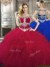 Classical Off the Shoulder Cap Sleeves Quinceanera Dress with Beading and Ruffles YYPJ027FOR