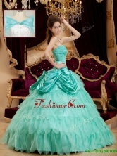 Classical Pick Ups and Ruffles Quinceanera Dresses with Strapless QDZY005DFOR