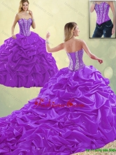 Classical Sweetheart Beading Quinceanera Dresses with Pick Ups SJQDDT192002-2FOR
