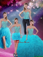 Detachable Sweetheart Beaded and Ruffles Sweet 16 Dresses QDDTA5008-3FOR