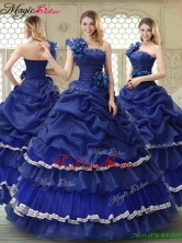 Elegant 2016 Ruffled Layers One Shoulder Quinceanera Dresses YCQD043FOR