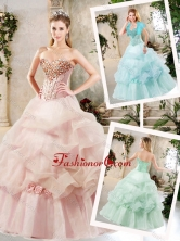 Elegant A Line Quinceanera Dresses with Beading and Pick Ups SJQDDT229002FOR