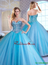 Elegant Ball Gown Sweetheart Quinceanera Dresses with Beading SJQDDT163002AFOR