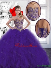 Elegant Beading and Ruffles Quinceanera Dresses with Lace Up SJQDDT131002FOR