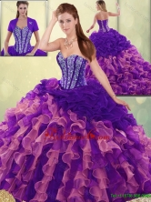 Elegant Beading and Ruffles Quinceanera Dresses with Sweetheart SJQDDT193002-1FOR