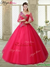 Elegant One Shoulder Beading Quinceanera Gowns with Appliques YCQD014-1FOR