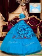 Elegant Strapless Appliques and Beading Quinceanera Gowns QDZY164BFOR