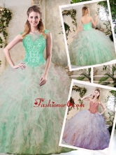 Elegant Sweetheart Quinceanera Dresses with Appliques and Ruffles SJQDDT225002FOR