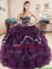 Exquisite Beaded and Pick Ups Purple Quinceanera Dress in Organza YYPJ037-1FOR