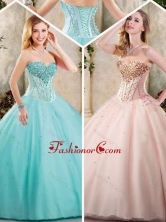 Exquisite Sweetheart Quinceanera Dresses with Beading SJQDDT237002FOR