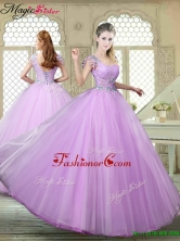 Fall Perfect Ball Gown Scoop Quinceanera Gowns with Appliques YCQD028FOR
