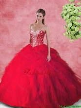 Fashionable Ball Gown Quinceanera Dresses with Beading and Ruffles SJQDDT104002-1FOR