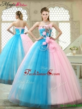 Fashionable Hand Made Flowers Sweet 16 Gowns with Strapless YCQD023FOR
