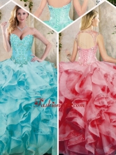 Fashionable Ruffles Quinceanera Dresses with Appliques SJQDDT227002-1FOR