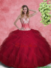 Gorgeous Ball Gown Sweetheart Quinceanera Gowns with Beading and Ruffles SJQDDT101002FOR