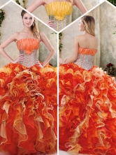 Gorgeous Multi Color Quinceanera Dresses with Sequins and Ruffles SJQDDT230002-1FOR