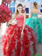 Gorgeous Really Puffy Sweet 16 Dress with Beading and Ruffles YYPJ003FOR