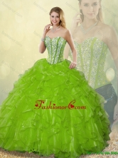 Gorgeous Sweetheart Quinceanera Dresses Beading and Ruffles SJQDDT186002-5FOR