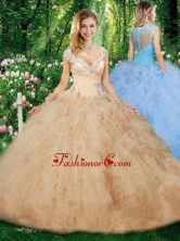 Hot Sale Ball Gown Quinceanera Gowns with Beading and Ruffles SJQDDT331002FOR