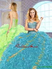 Hot Sale Floor Length Quinceanera Dresses with Lace Up SJQDDT150002-1FOR