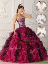 Latest 2016 Multi Color Quinceanera Gowns with Ruffles QDZY009EFOR