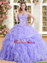 Latest Applique and Ruffled Quinceanera Dress in Lilac for Spring YSQD002-2FOR