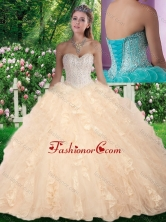 Latest Ball Gown Beading and Ruffles Sweet 16 Gowns for Fall SJQDDT290002FOR