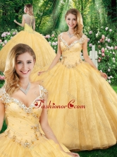 Latest Ball Gown Straps Quinceanera Dresses with Beading SJQDDT328002FOR
