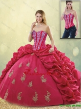 Latest Brush Train Beading Sweet 16 Dresses in Coral Red SJQDDT191002-1FOR