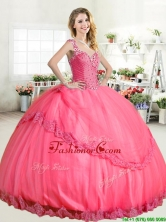 Lovely Straps Big Puffy Quinceanera Dress with Beading and Appliques YYPJ043-2FOR