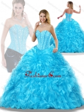 Luxurious Aqua Blue Detachable Quinceanera Dresses with Beading SJQDDT206002FOR