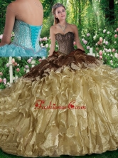 Luxurious Ball Gown Beading Sweet 16 Dresses with Brush Train SJQDDT293002FOR