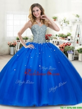 Luxurious Beaded Bodice Royal Blue Quinceanera Dress in Tulle YYPJ044FOR