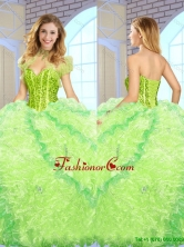 Luxurious Beading and Ruffles Quinceanera Gowns in Multi Color SJQDDT148002FOR
