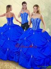 Luxurious Floor Length Quinceanera Dresses with Pick Ups SJQDDT185002-4FOR