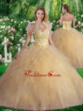 Luxurious Sweetheart Champagne Quinceanera Dresses with Beading SJQDDT343002FOR